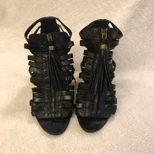 Givenchy Black Biker Slash Heels